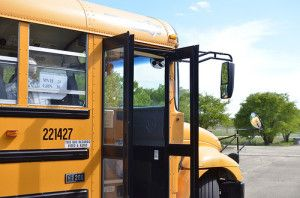 The electric school bus is finally here.
