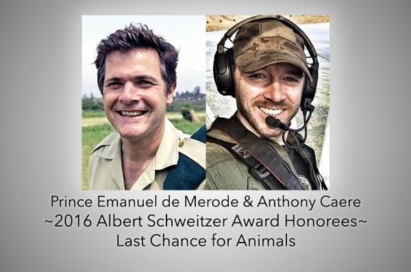 Virunga Park Director and Head 'AirWing' Pilot to Receive Albert Schweitzer Award at LCA Annual Gala
