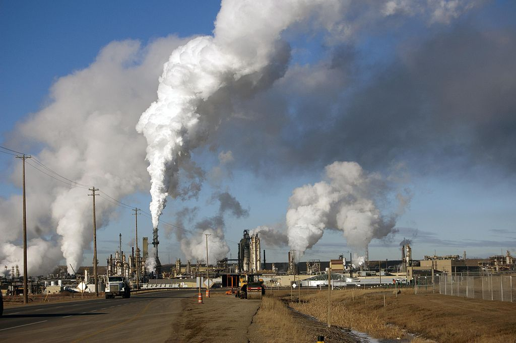 Tar sands oil in Alberta, Canada