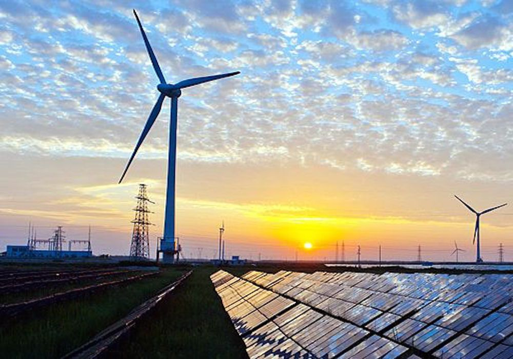Wind, solar, and other types of renewable energy.