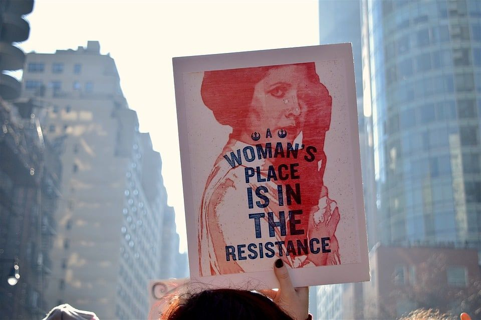 Women join political resistance, run for office.