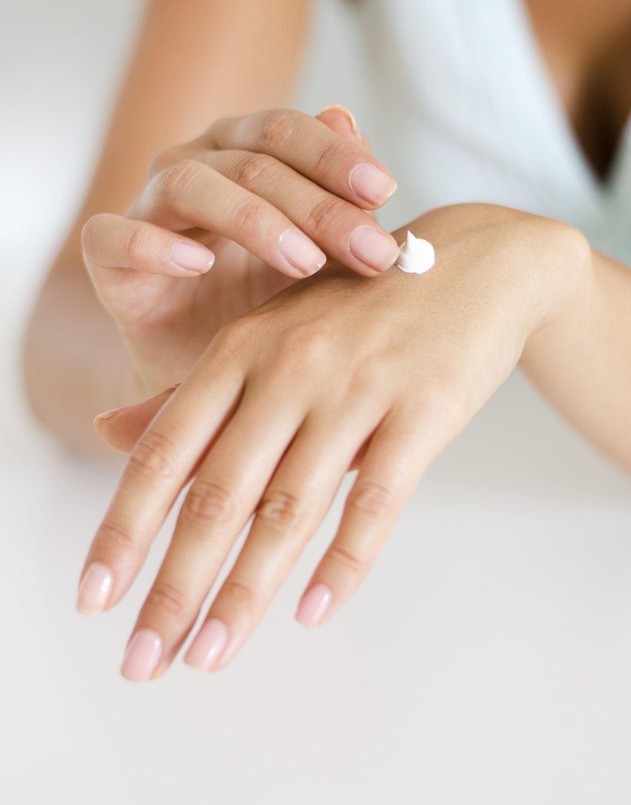 Lotion on hands