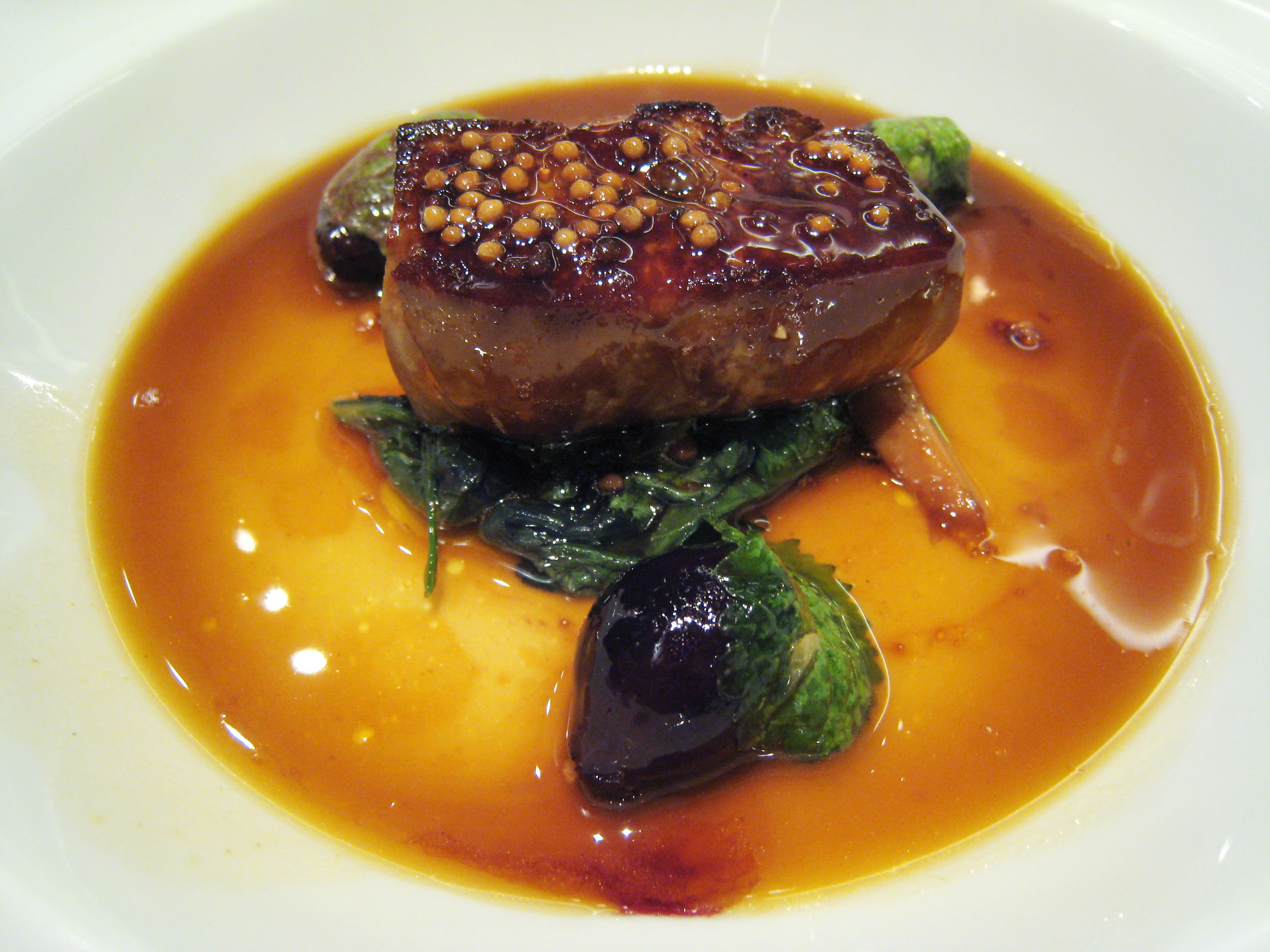 A platter of foie gras. In a big win for animal rights, California's ban on foie gras was recently reinstated.
