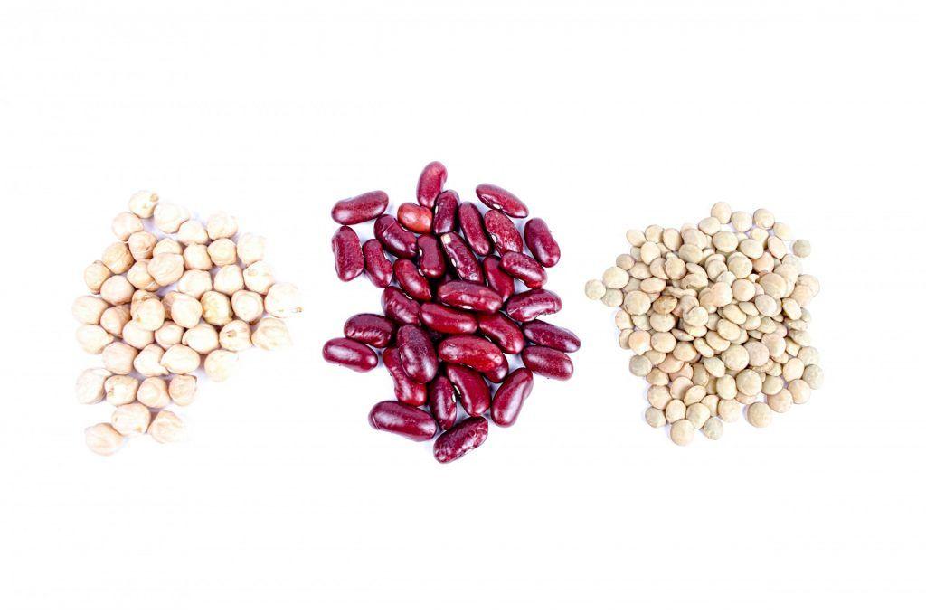 Chickpeas, beans, lentils.