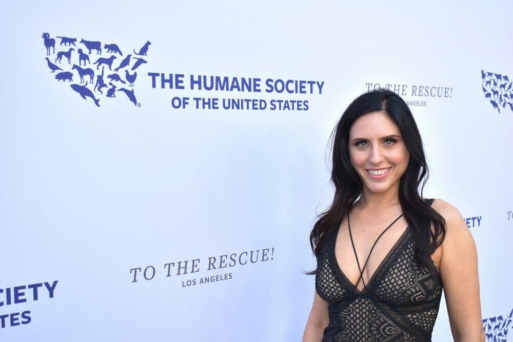 Nina Jackel Lady Freethinker Humane Society Red Carpet