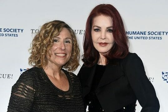 Kitty Block and Priscilla Presley at To the Rescue! Los Angeles, by the Humane Society of the United States.