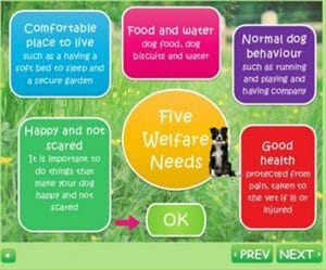 A diagram of five pet welfare needs. Learn more about promoting animal welfare at Lady Freethinker.