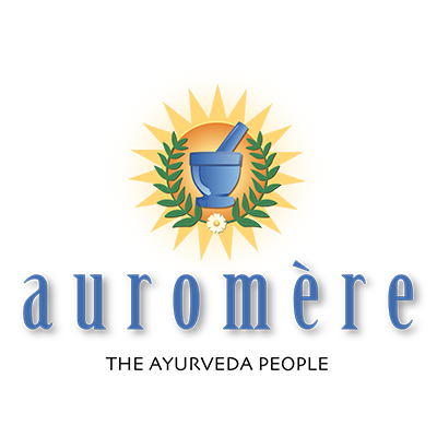 The auromere logo. Auromere was a sponsor of the 1st Annual Animal Heroes' Event, organized by Lady Freethinker.