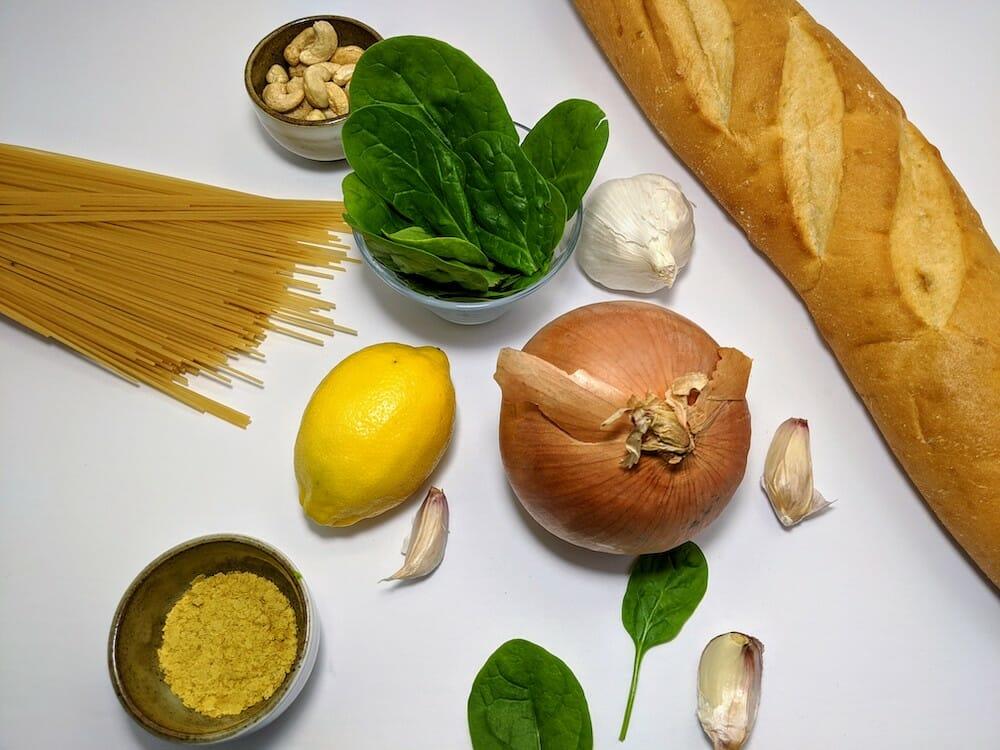 raw vegan ingredients