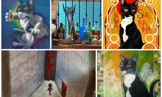 Cat's Foster Dad Enlists Local Artists to Find Her a Loving Forever Home