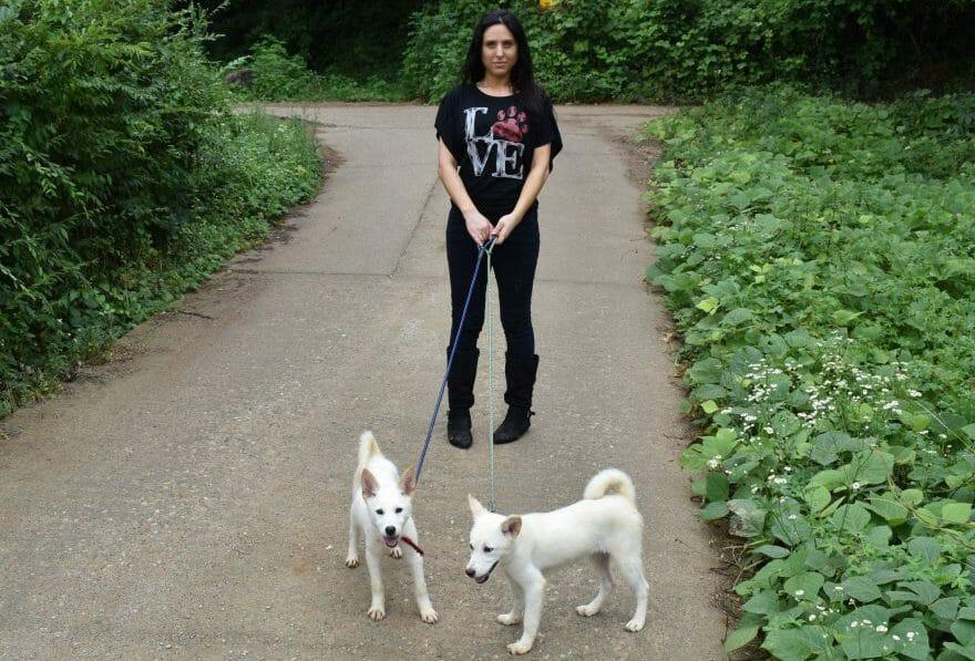 LFT Founder Nina Jackel with dogs