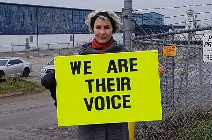 animal rights activist Regan Russell
