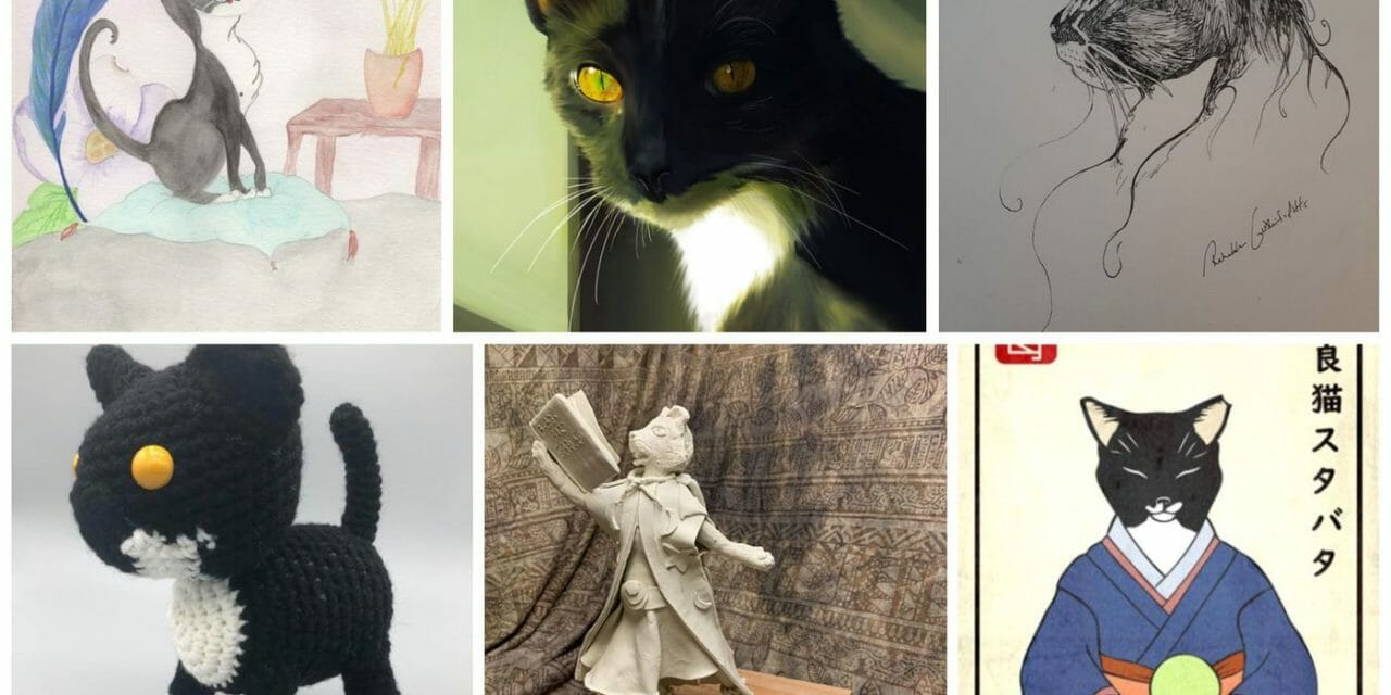 Stabatha the Cat Finally Finds Forever Home After Local Artists Paint Her Portrait