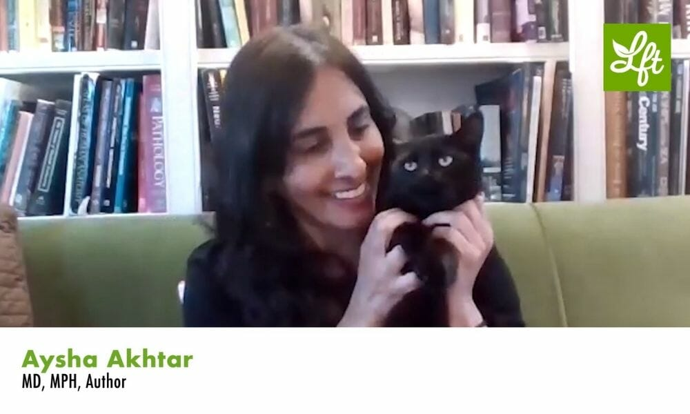 Aysha Akhtar and her cat
