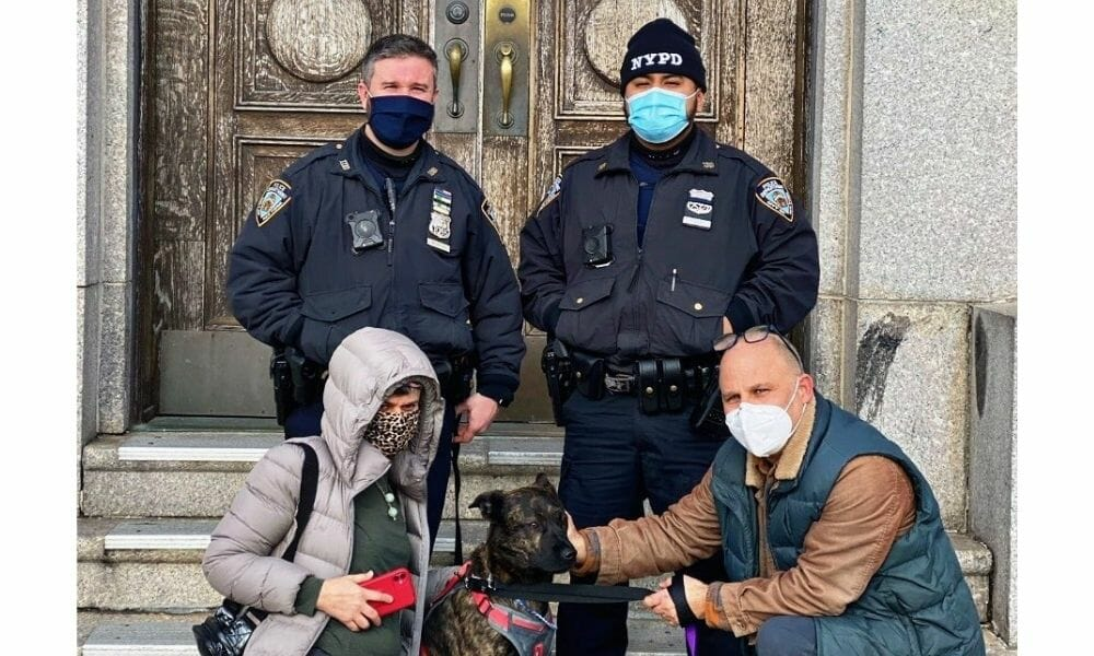 Drowning Dog Rescued From Freezing Water by NYPD