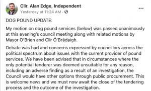 Alan Edge FB post