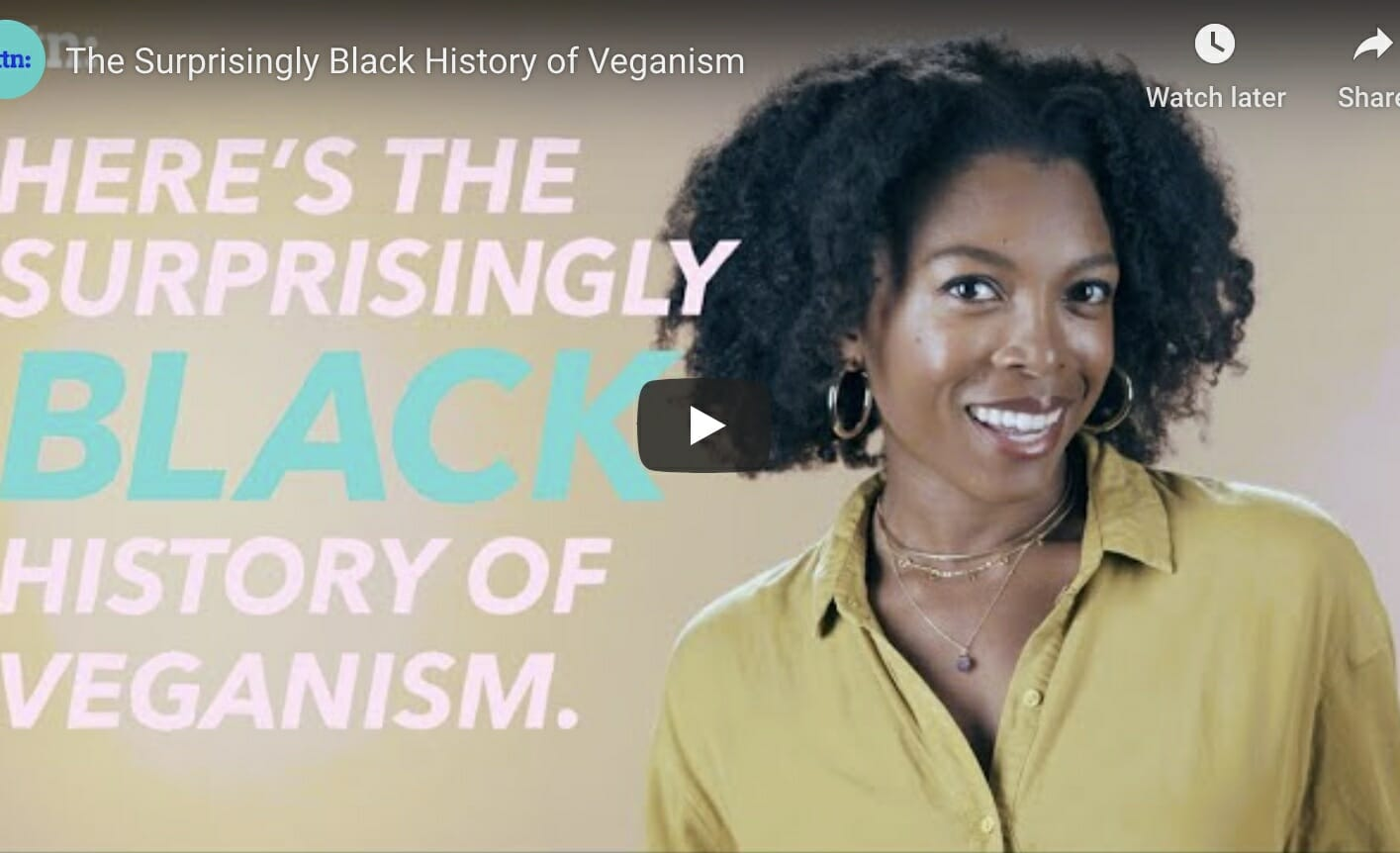 video screenshot vegan black history