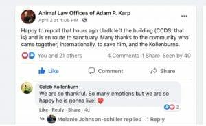 Adam Karp Lladk Facebook post