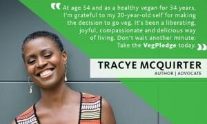 vegan author Tracye McQuirter