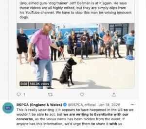 England and Wales RSPCA tweet